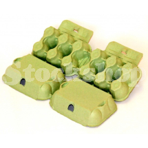 PRESSED PULP 6 EGG BOX-GREEN (280)
