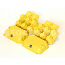 PRESSED PULP 6 EGG BOX-YELLOW (280)