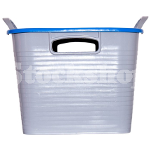 GORILLA TUB® STACK 'N' STORE FLEXI-STORAGE BOX BLUE LID