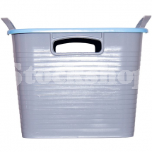 GORILLA TUB® STACK 'N' STORE FLEXI-STORAGE BOX SKY BLUE LID