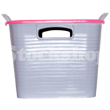 GORILLA TUB® STACK 'N' STORE FLEXI-STORAGE BOX PINK LID