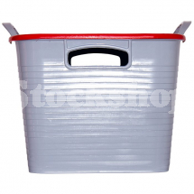 GORILLA TUB® STACK 'N' STORE FLEXI-STORAGE BOX RED LID