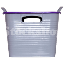 GORILLA TUB® STACK 'N' STORE FLEXI-STORAGE BOX PURPLE LID