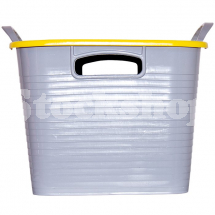 GORILLA TUB® STACK 'N' STORE FLEXI-STORAGE BOX YELLOW LID