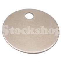 NICKEL PLATED BRASS 28MM DISC TAG (BLANK)