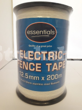 ESSENTIALS 12.5MM WHITE POLYTAPE 200M