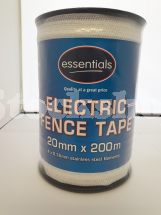 ESSENTIALS 20MM WHITE POLYTAPE 200M