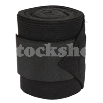 FLEECE BANDAGE BLACK (4PK) 3M x 12CM