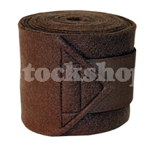 FLEECE BANDAGE BROWN (4PK) 3M x 12CM
