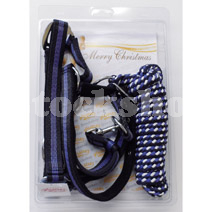ADJUSTABLE PADDED HEAD COLLAR & MUSTANG LEAD ROPE SET PONY